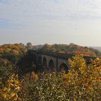 Neisse Viaduct in autumn