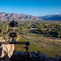 Shooting Time-lapse video of the Indus Valley plains from Shey