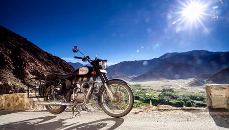 Chemrey village and Royal Enfield