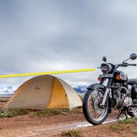 Composition Tip : Royal Enfield camp at More plains