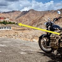 Composition Tip : Royal Enfield shoot at Phyang