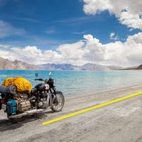 Composition Tip : Royal Enfield at Pangong lake