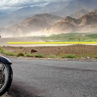 Composition Tip : Royal Enfield at Hemis village