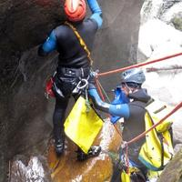 Safety checks before Canyoning.