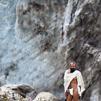Laying bare infront of mother nature. A Sadhu at Gaumukh, Gangotri.
