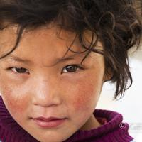 Oh those piercing eyes. A Ladakhi portrait in the Indus Valley.