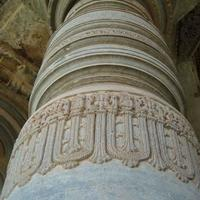 Intricate art on the pillars