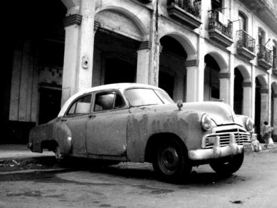 Old car in the streets of Havanna
