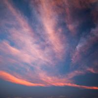 Colorful sunset clouds over Ban Tai