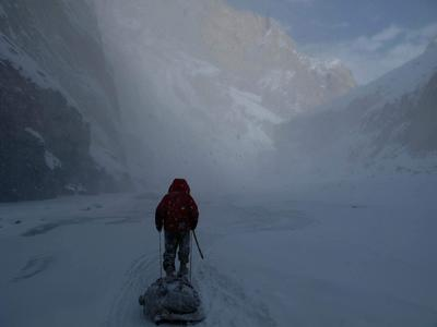 Dark walk after Hit by An Avalanche