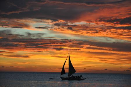 Sunset at Boracay, Phillippines