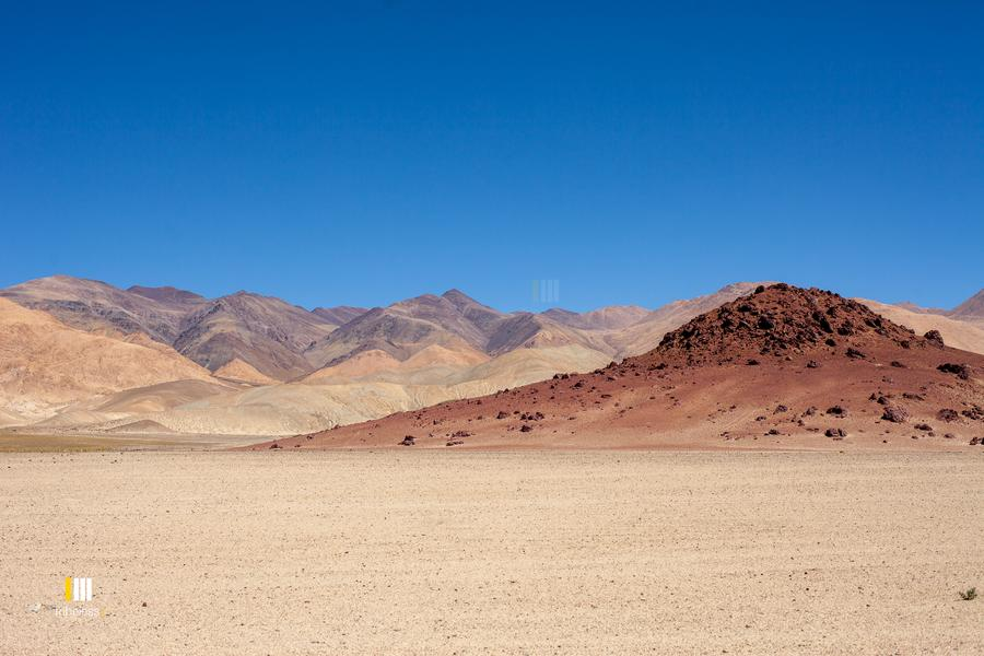 The colorful hues of the Hanle mountains