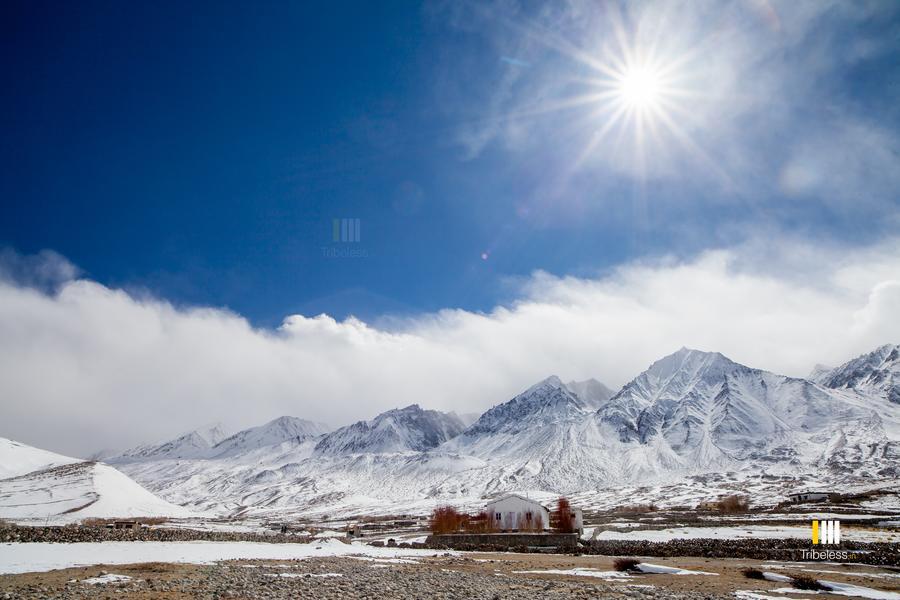 The stunning Maan village in winter.