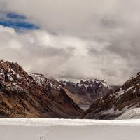 The PareChu valley viewed from the Parang La glacier.