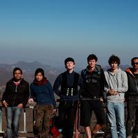 group shot.. catherine, vikram, breena, benedict, mattia, wouter, vijay and me behind the camera
