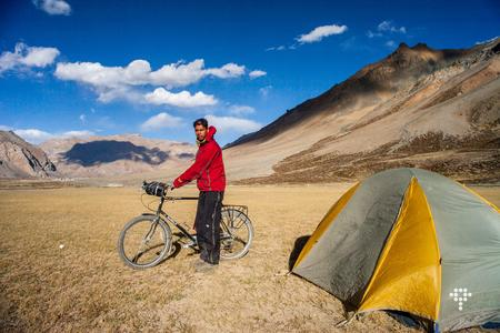 Camping with my Surly LHT at Sarchu