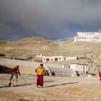Winter cricket at Hanle monastery