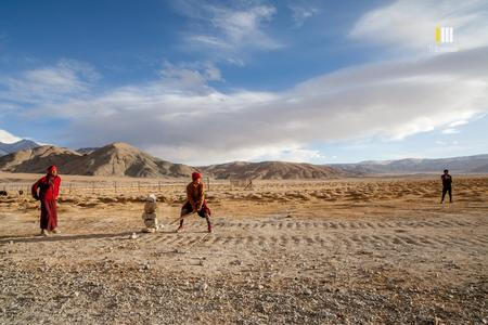 Hanle monastery cricket game.