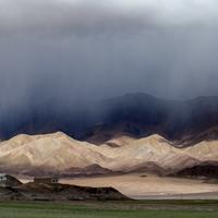 Rainfall and sunshine over Hanle monastery.