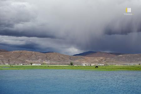 Rain clouds over the Hanle village.