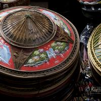 Colorful bamboo hats on sale at the Damnoen Saduak Floating Market, Bangkok