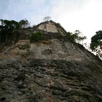 Climbing by the Rock cafe..