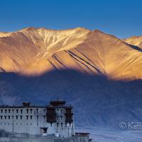 A magical sunset scene from the Stok village in Ladakh.
