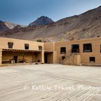 The courtyard of the 1000 year old Tabo monastery in the Spiti valley.
