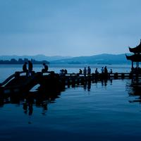 Twilight over the Hangzhou West lake..